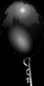 Balloon, Black, Shiny, Helium, Decorate, Decoration