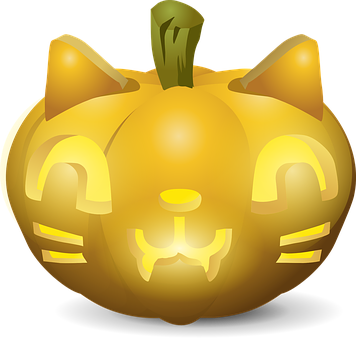 Carved, Pumpkin, Faces, Scary, Cats, Wild, Horror