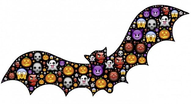 Bat, Halloween, Emoji, Scary, Frightful, Spooky, Icons