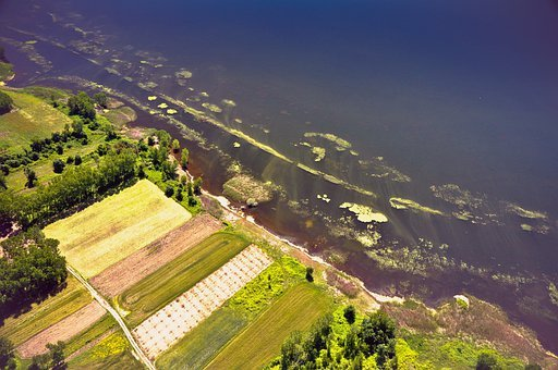 Lake, Aerial Photography, Dro, Drone, Green, Landscape