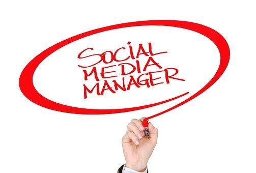 Social, Media, Manager, Hand, Write, Font, Online