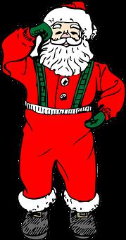 Santa Claus, Man, Traditional, Season