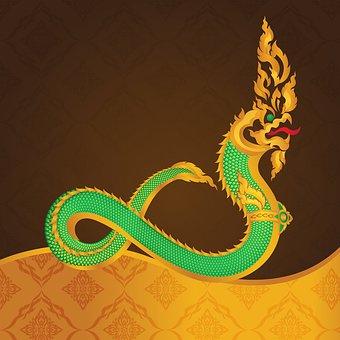 Snake, Naga, Dragon, Legend, River