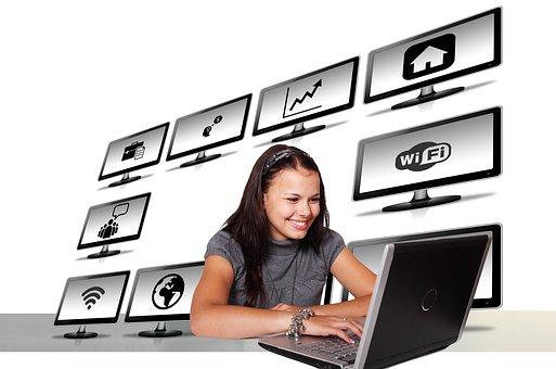 Social, Media, Manager, Online, Woman, Organization
