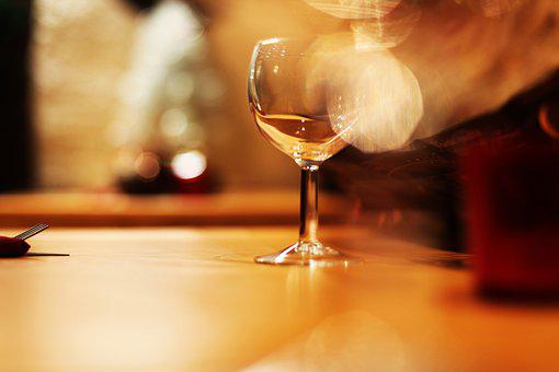 Glass, Wine, Wine Glass, Restaurant, Table, Tasting