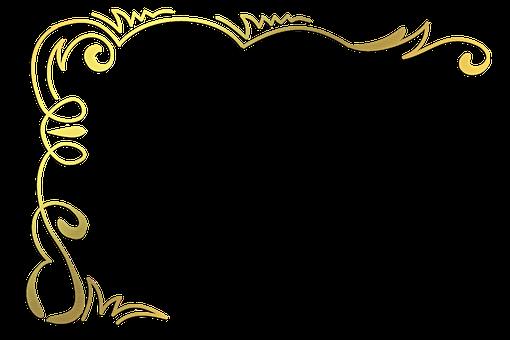 Gold Foil Corner, Art Nouveau, Art Deco, Corners