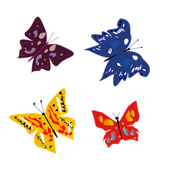 Butterflies, Vector, Art, Nature, Illusion, Colorful