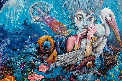 Street Art, Graffiti, Art, Wall, Mural, Facade