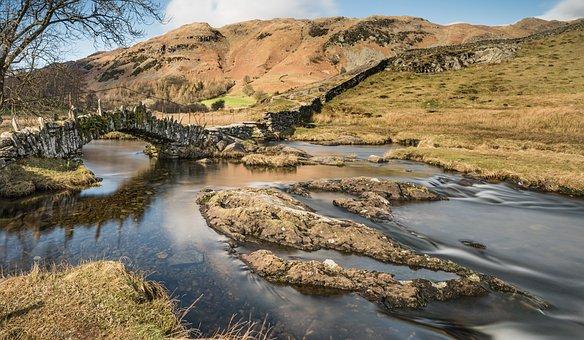 Lake District, Little Langdale, Cumbria, Slater Bridge