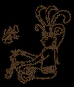 Man Maya, Cocay Firefly, Aztec, Mayan Glyph