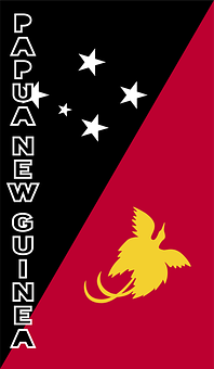 Papua New Guinea, Country Flag, Banner, Bunting
