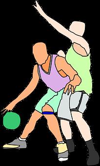 Basketball, Players, Offense, Playing