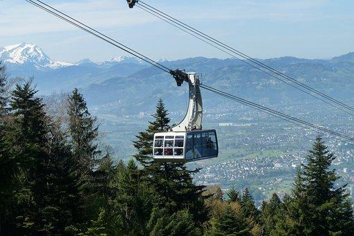 Cable Car, Gondola, Mountains, Pledges
