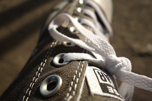 Shoe, Macro, Converse, Shoelace, Sneaker