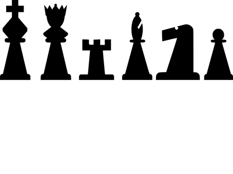 Chess, Meeples, Black, King, Queen, Rook, Pawn, Bishop