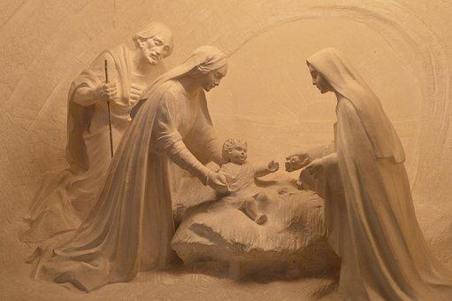 Statue, Pierre, Characters, Four, Parents, Child
