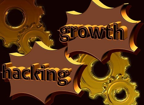 Gear, Growth Hacking, 3d, Gold, Background, Marketing