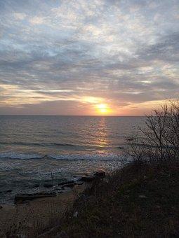 Sea, Sunrise, Beach, Water, Sky, Morning, Varna