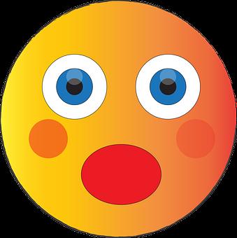 Shocked Emoji, Surprised, Blushed, Blushing