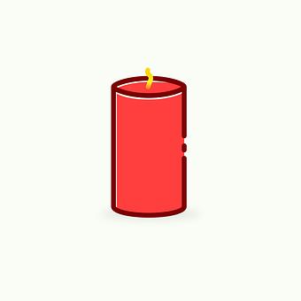 Flat Design, Symbol, Design, Icon, Candle, Mood