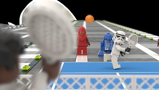 Lego, Stormtrooper, Tennis, Play, Republic