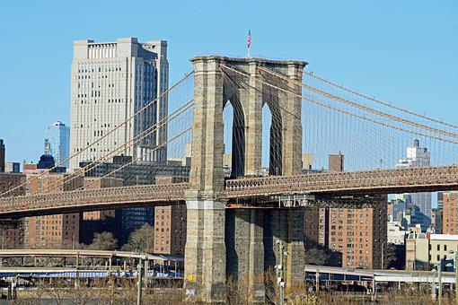 Brooklyn Bridge, Nyc, City, Usa, Cityscape, Landmark
