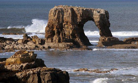 Sea Arch, Whitburn, Tyne And Wear, England, Britain