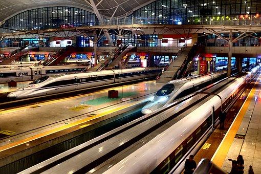 Train, Wuhan, Railway, Architecture