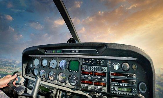 Cockpit, Aircraft, Pilot, Flying