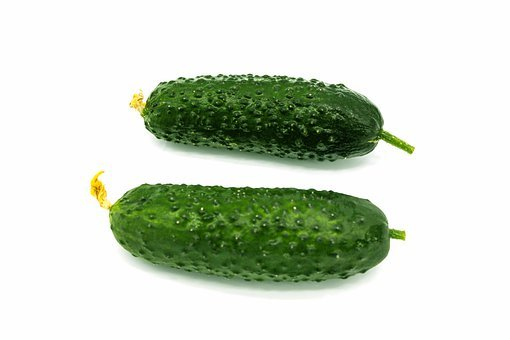 Cucumbers, Isolated, Background, Green