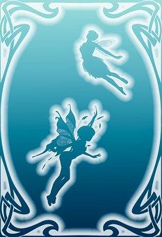 Elf, Fee, Elves Flight, Fairy Tales, Background