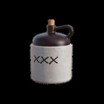 Jug, Moonshine, Cork, Jar, Container