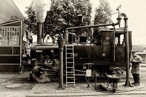 Loco, Old, At That Time, Steam Locomotive, Railway
