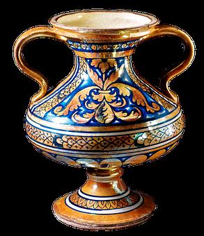 Two-handled Vase, Vase, Tin-glazed, Earthenware