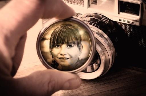 Lens, Camera, Child, Face, Portrait, Filter, Head