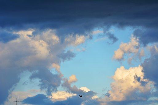 Sky, Clouds, Storm, Climate, Blue, Cluster, Horizon
