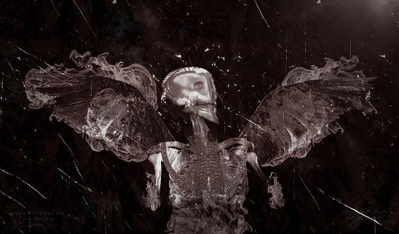 Skull, Heart, Death, Soul, Mind, Suspended, Drift