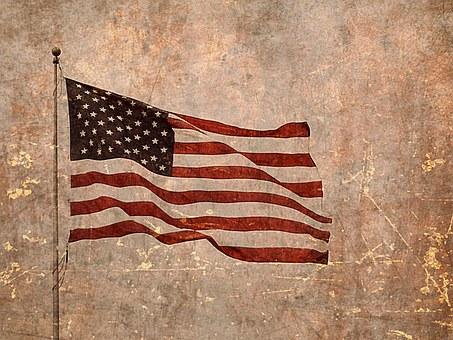 American Flag, Usa Flag, Flag, Textured, Rough, Harsh