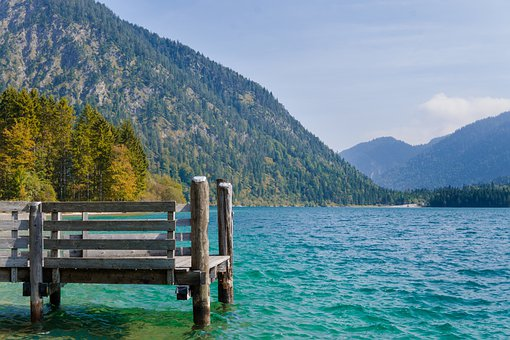 Lake, Austria, Water, Nature, Landscape, Mountains