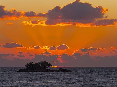 Sea, Sunset, Glow, Twilight, Solar, Water, Sky, Nature