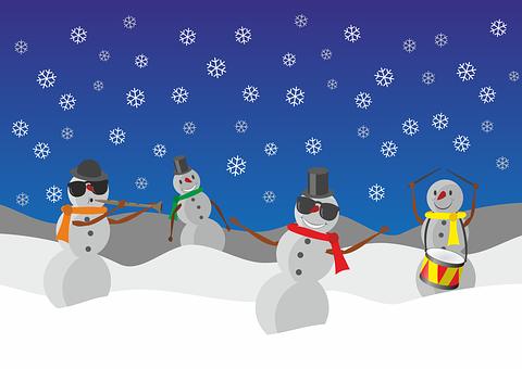 Snowman, Snowmen, Winter, Snow, Christmas, Wintry