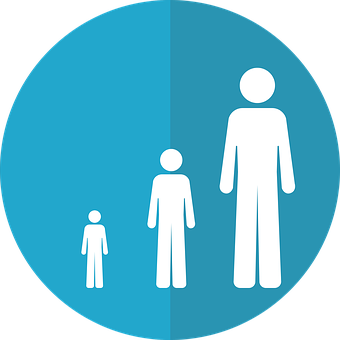 Life Stage Icon, Growth Icon, Aging Icon