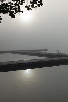 Bridge, Pool, Bathing Area, Lake, Water