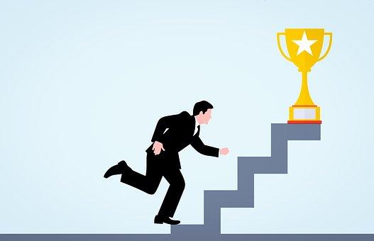 Cup, Businessman, Successful, Golden, Business, Success