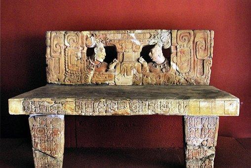Guatemala City, Bench, Maya, Art, Civilization, Glyph