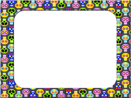 Frame, Day Of The Dead, Dios De Los Muertos, Halloween