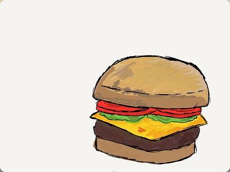 Burger, Bob's Burgers, Calories, Drawing, Dinner, Eat