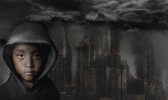 City, Destruction, Fire, Apocalypse, Devastation
