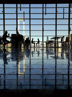 Airport, Reflection, Business, Glass