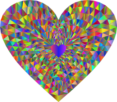 Heart, Love, Low Poly, Polygons, Triangles, Geometric